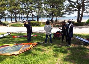 ウインドサーフィン 海の公園 speedwall スピードウォール 初心者 スクール 体験 横浜 神奈川 star jp goya SEVERNE neil ga foil