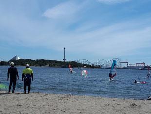 ウインドサーフィン 海の公園 スピードウォール スクール 体験 初心者 神奈川 横浜