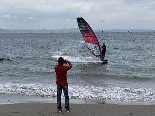 ウインドサーフィン 海の公園 スピードウォール 神奈川 横浜 海の公園