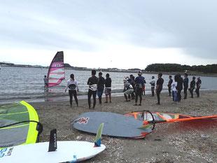 ウインドサーフイン 横浜 神奈川 初心者 体験 海の公園 スクール スピードウォール SPEEDWALL