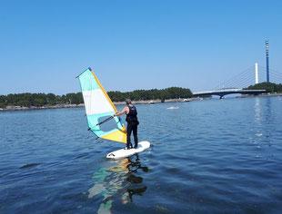 SUP ウインドサーフィン 海の公園 スピードウォール スクール 初心者 神奈川 横浜