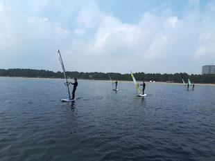 ウインドサーフィン SUP スクール 体験 初心者 横浜 神奈川 海の公園 スピードウォール speedwall