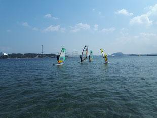 ウインドサーフィン SUP スクール 体験 初心者 横浜 神奈川 海の公園 スピードウォール speedwal