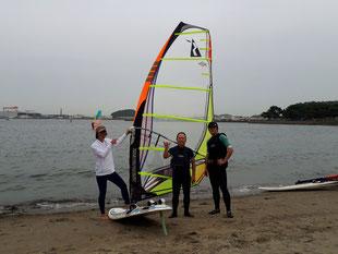 ウインドサーフィン スクール SUP 海の公園 神奈川 横浜 スピードウォール 初心者 体験