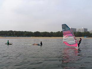 ウインドサーフィン SUP スピードウォール 神奈川 横浜 海の公園 初心者 スクール 体験