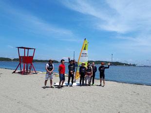 ウインドサーフィン スクール 初心者 体験 神奈川 横浜 海の公園 スピードウォール
