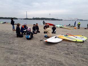 ウインドサーフィン スピードウォール 横浜 神奈川 海の公園 スクール