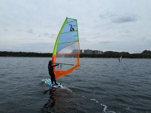 ウインドサーフィン 海の公園 神奈川 横浜 スクール 体験 初心者 スピードウォール