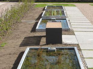 Wasserelemente wurden in die Anlage integriert