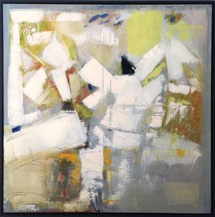 Jean-Claude Thuillier, Arbre de colombes, huile / toile, 100 × 100 cm