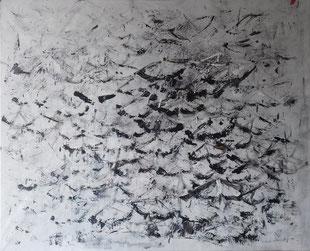 Perspectalis (1) de Jean-Claude Thuillier, acrylique sur papier marouflé / toile 81x100 cm