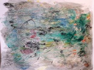 """sans titre"", dessin de Patrick Bilheran, 70 x 50 cm"