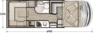 Grundriss Mobilvetta K-Yacht Tekno Line 80