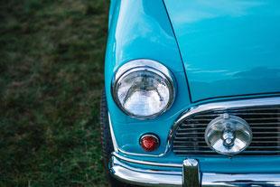 Oldtimer, Auto, blau