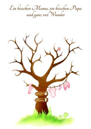 geschenk zur taufe fingerabdruckbaum fingerabdruckbaum. Black Bedroom Furniture Sets. Home Design Ideas