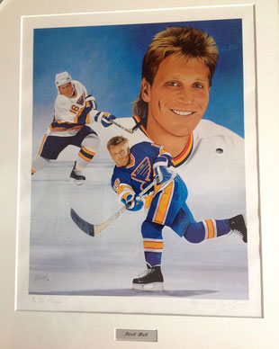 Brett Hull by Joachim Thiess, the hockey collection