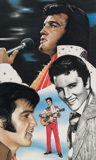 Elvis Presley, Pastell, 60x80cm, 5 Jahre im Elvis Museum