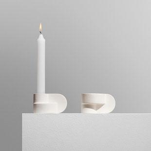 Candela Kerzenständer  handgefertigt aus Ton