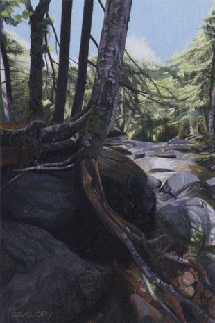 francois beaudry pastel et aquarelle peinture tableau paysage en amont série via appalachia 14