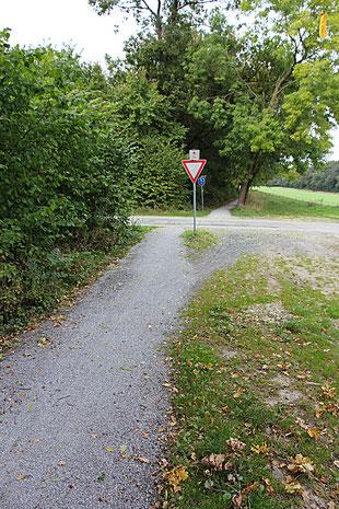 """Auf dem """"Alten Münsterweg"""" Richtung Altenberge, erste Wegkreuzung links (""""Hohenhorst"""")"""