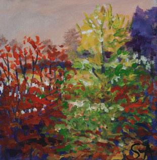 Autumn Leaves painting - Sally-Anne Adams Artist