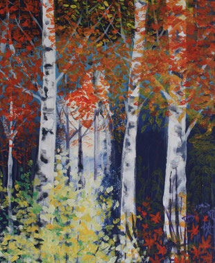 Forest Glade painting - Sally-Anne Adams Artist