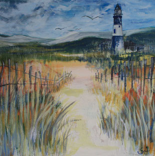Lighthouse painting - Sally-Anne Adams Artist