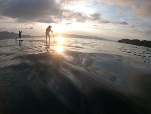 周防大島の海でsup