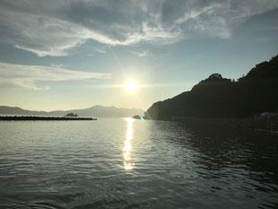 周防大島の夕陽