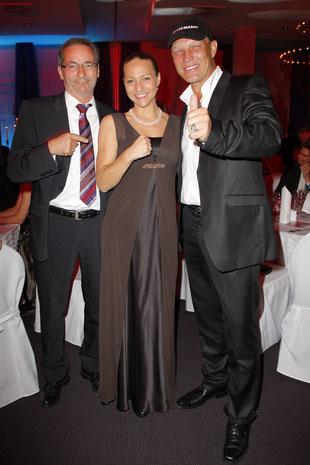 Platzeck, Schulz und Ramona Kühne verabreden den WM Kampf am 2.03. 2013 in Potsdam