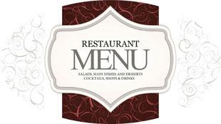 Перевод меню ресторана на иностранный язык