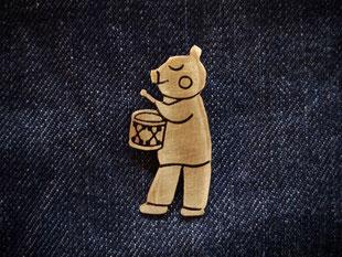 Piggy Musician  ぶたちゃん音楽隊  Pendant top jewelry