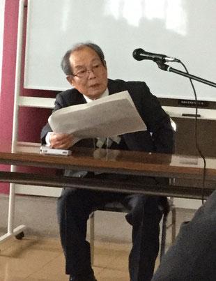 講演で、二州と子規の共通点を熱く語られる加藤氏 ご講演後のインタビューhttps://www.youtube.com/watch?v=N30bdaNlu0Y