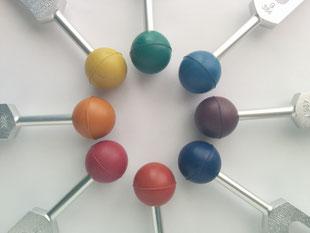 音叉ヒーリング講座通信講座の日本音叉ヒーリング研究会onsalabo のチャクラカラーボール