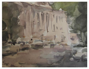 Summer in the city - Watercolors  /  Sommer in der Stadt - Aquarell