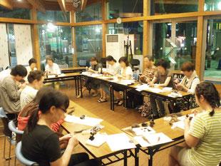 伊勢佐木町をつなぐ女性の会さま主催の教室の様子