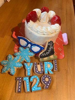 京都 オリジナル アイシングクッキー デコレーション 誕生日ケーキ