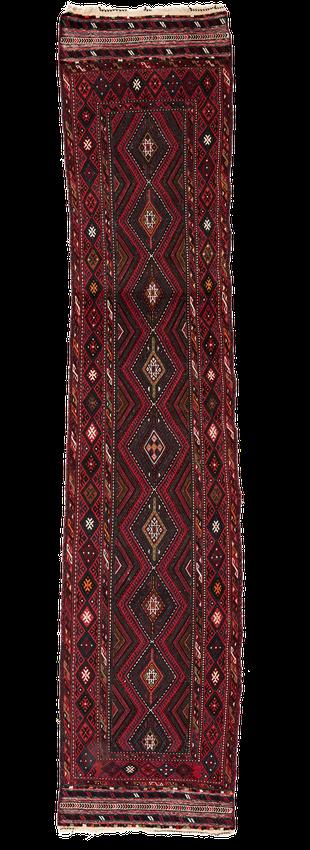 Nomaden Teppich, Zürich. Vintage afghan Soumak runner, corridor, long and narrow rug, mushwani
