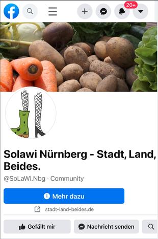 Die SoLawi Stadt Land Beides auf Facebook