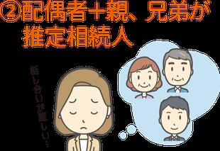 ②配偶者+親、兄弟が推定相続人