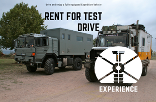 """Expedition Vehicle for rent expedition vehicles renting """"go out of office"""" goootravel expedition truck camper on the beach off-road rentals adventure truck camper for rent overland travel overlanding tesomobil self-sufficient travel vehicle offgrid"""