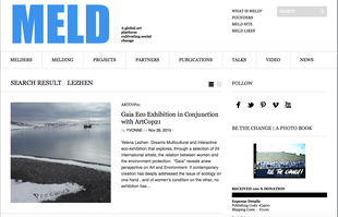 Article on Meld about exhibition Gaïa curated by Julia Rajacic
