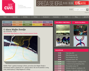 Article on Seecult about exhibition Gaïa curated by Julia Rajacic
