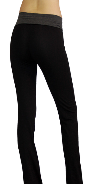 maternity yoga pants black and gray