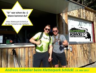 Kletterpark Schöckl Andreas Gabalier
