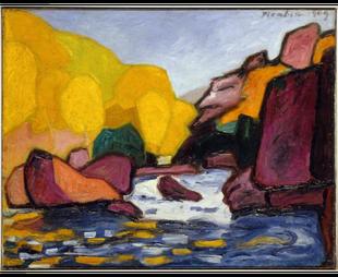 Francis Picabia (1879 - 1953)  Bords de la Sédelle , 1909  Huile sur toile  69 x 88,3 cm, Centre Pompidou