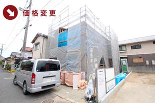 岡山県倉敷市児島田の口の新築一戸建て分譲住宅の外観 物件詳細ページにリンク
