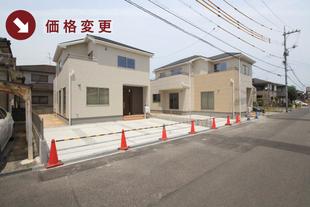 岡山県岡山市南区福田の新築一戸建て分譲住宅の外観 物件詳細ページにリンク