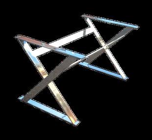 Estructura para mesa fabricada en acero inoxidable a medida