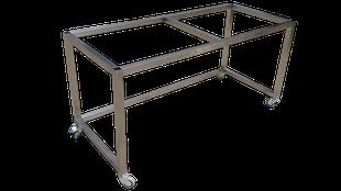 Estructura de diseño en acero inoxidable para múltiples usos.